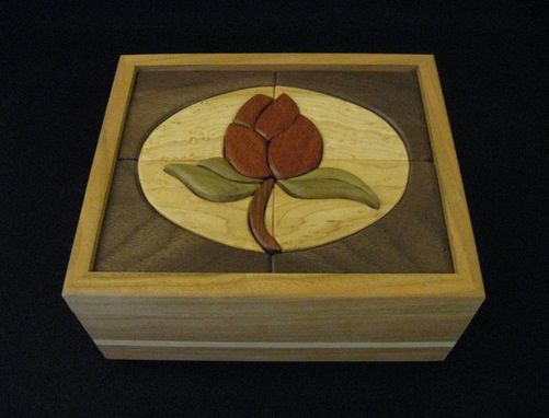 Custom Made Intarsia Rose Keepsake/Jewelry Box