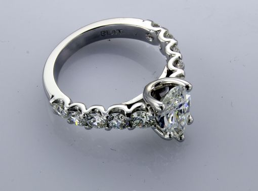 Custom Made Pear Shape With Scalloped Side Diamonds