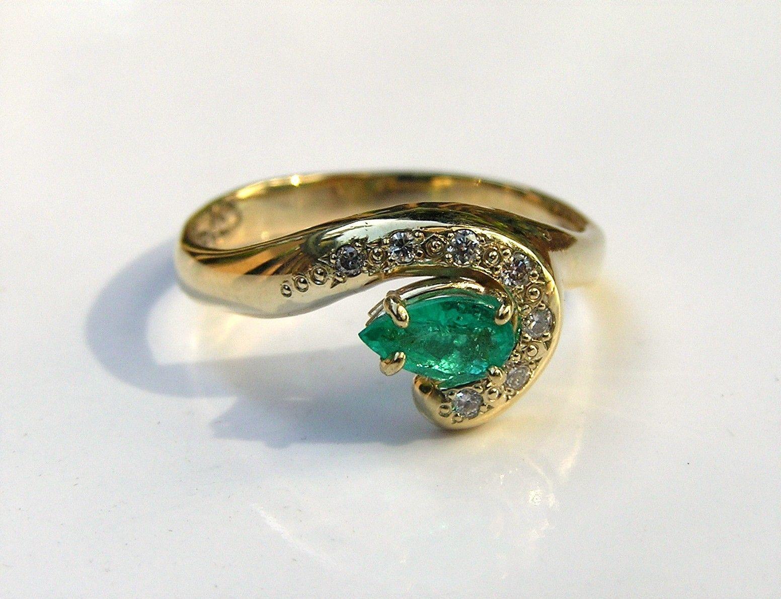 Custom Made Paraiba Tourmaline & Diamond 14k Gold Engagement Ring