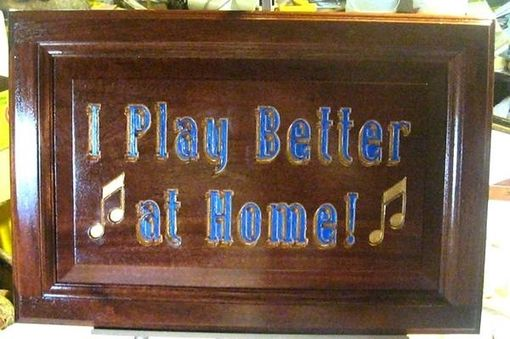 Custom Made Sign For Music Store