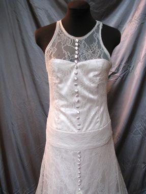 Custom Made Champagne Lace Wedding Dress