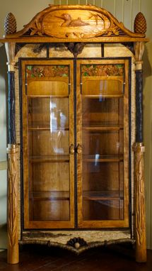 Custom Made Adirondack Rustic Display Cabinet