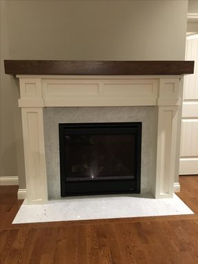 Custom Made Craftsman Style Fireplace Surround With Walnut Mantel