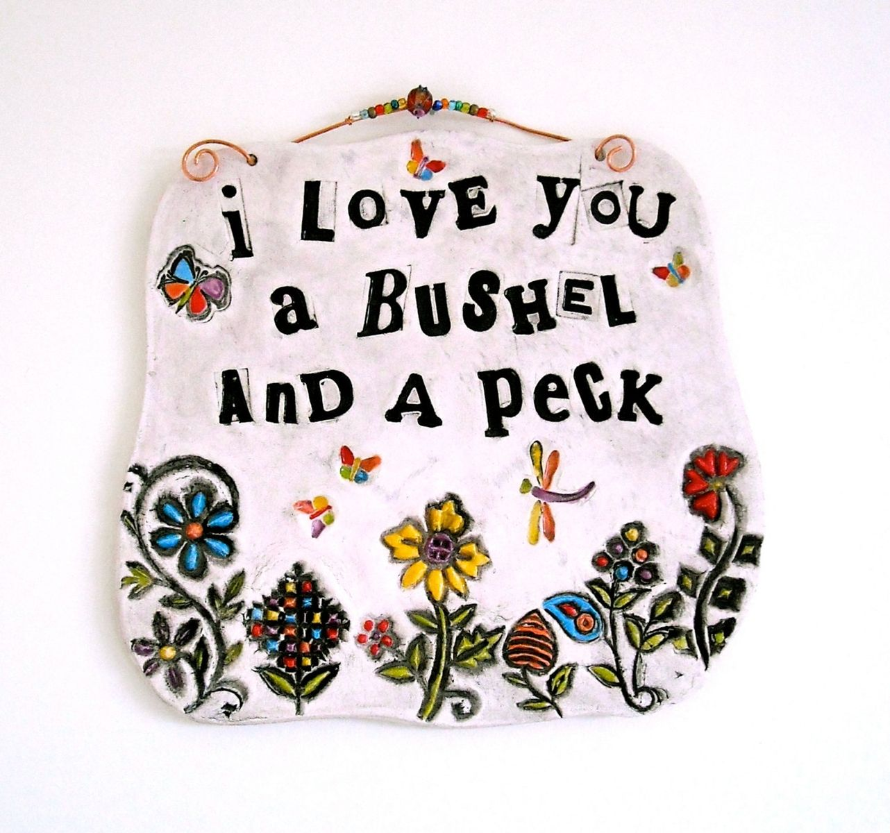 Love Plaques Quotes Handmade Ceramic Pottery Personalized Custom Inspirational Words