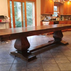 Handmade arts and crafts style kitchen island by paul 39 s for Arts and crafts kitchen table