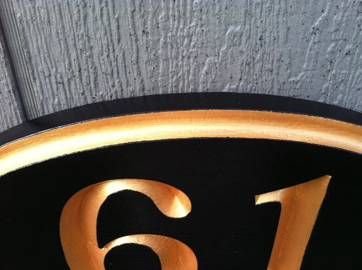 Custom Made House Number Sign-Recessed Numbers