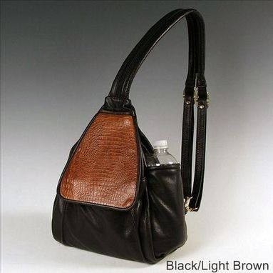Custom Made Large Irene Pack, Black And Brown Leather