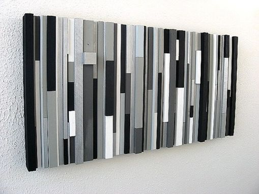 Custom Made Black And White Abstract Art, Abstract Painting, Wood Wall Sculpture, Wall Art Wood