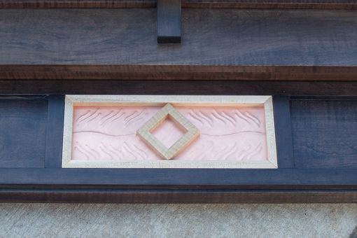 Custom Made Maple Fireplace Surround With Copper Accent