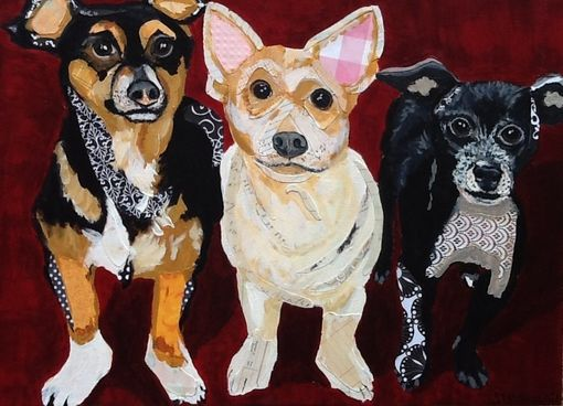 Custom Made Commissioned Pet Portrait Painting Collage