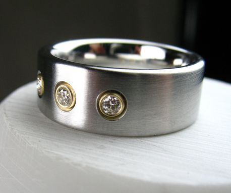 Custom Made Cobalt Diamond Wedding Band
