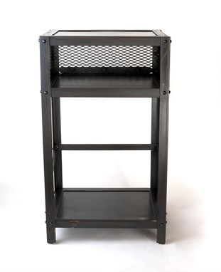Custom Made Industrial Night Stand, Urban Side Table, End Table