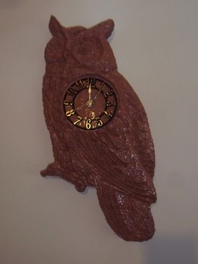 Custom Made Great Horned Owl Wall Clock