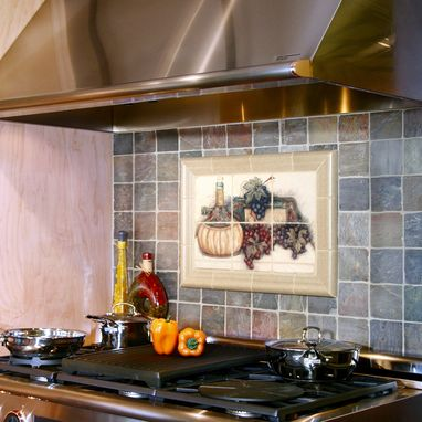 Custom Made Fruit Of The Vine Kitchen Mural