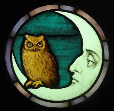 Custom Made Owl And Moon