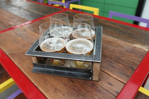 Custom Made Glass Beverage Rack