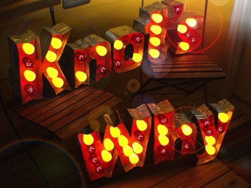 Custom Made Vintage Marquee Art Outdoor Commercial Grade Letter Lights Heavy Duty