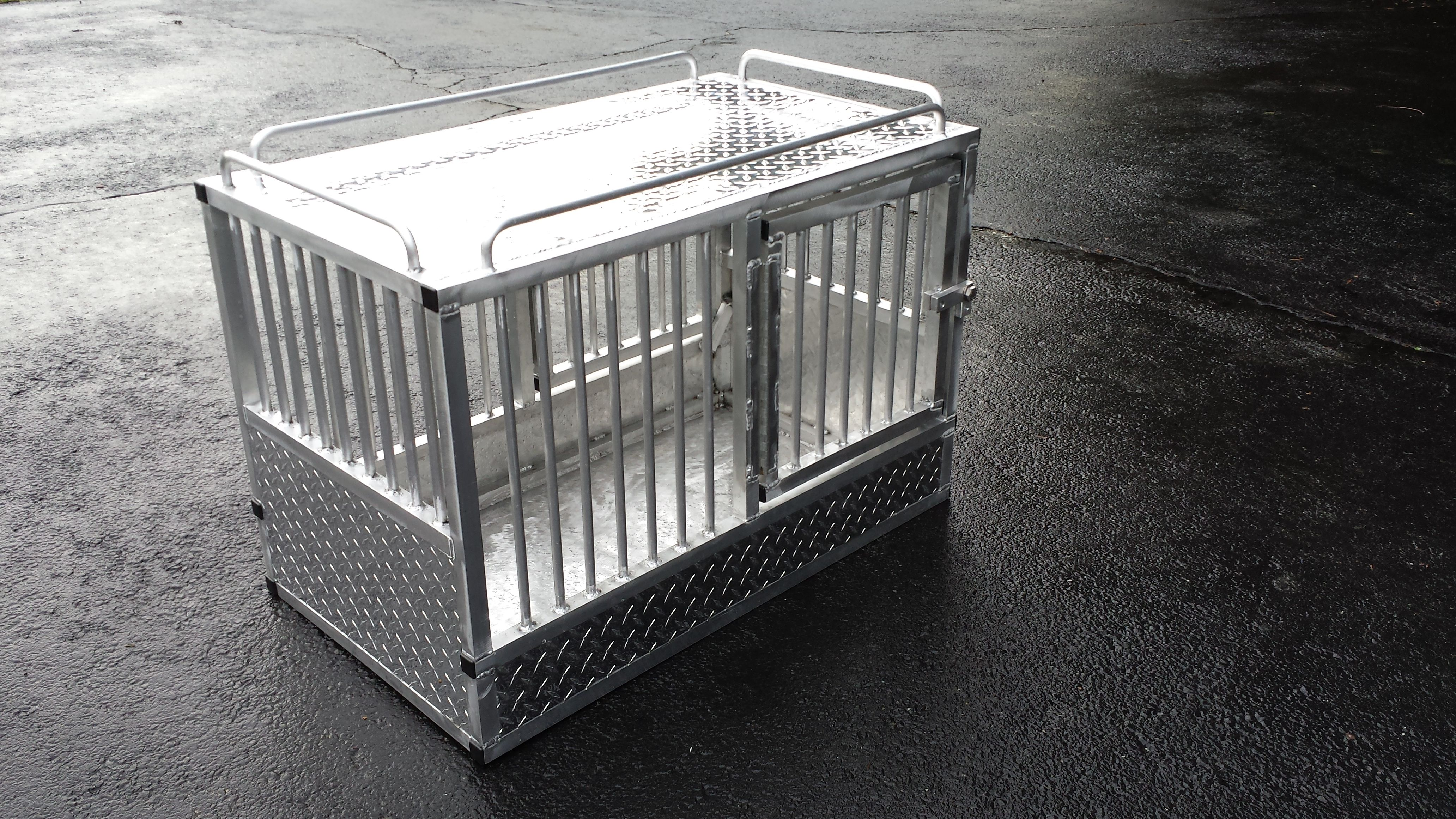 Handmade Custom Aluminum K 9 Crate By Little Enterprises
