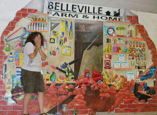 Custom Made Belleville Farm And Home Mural