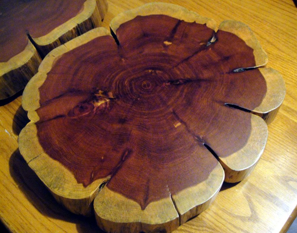 Buy hand crafted food safe cake or decorative wood stand for Wood trunk slices