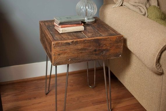 Custom made reclaimed barn wood side table by reformed for Design couchtisch ring