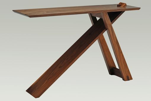 "Custom Made Knock-Down Walnut ""Wedge"" Entry Table"