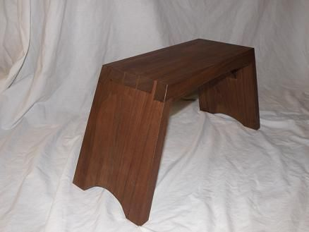 Custom Made Walnut Step Stool