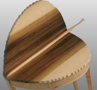 Custom Made Aspen Leaf Table