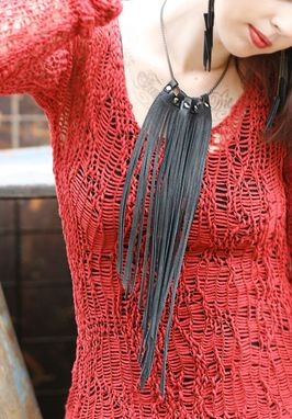 Custom Made Leather Fringe Necklace