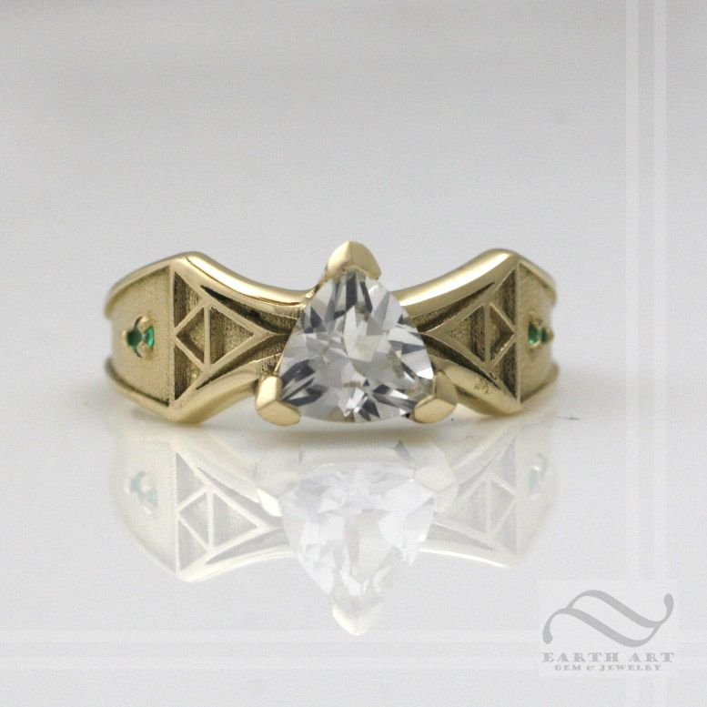 custom made 14k yellow gold zelda engagement ring - Zelda Wedding Ring