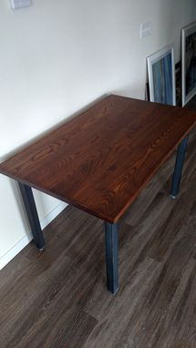 Custom Made Wood And Steel Table