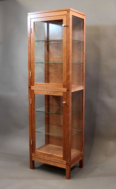 Custom Made Tall Cherry Display Case