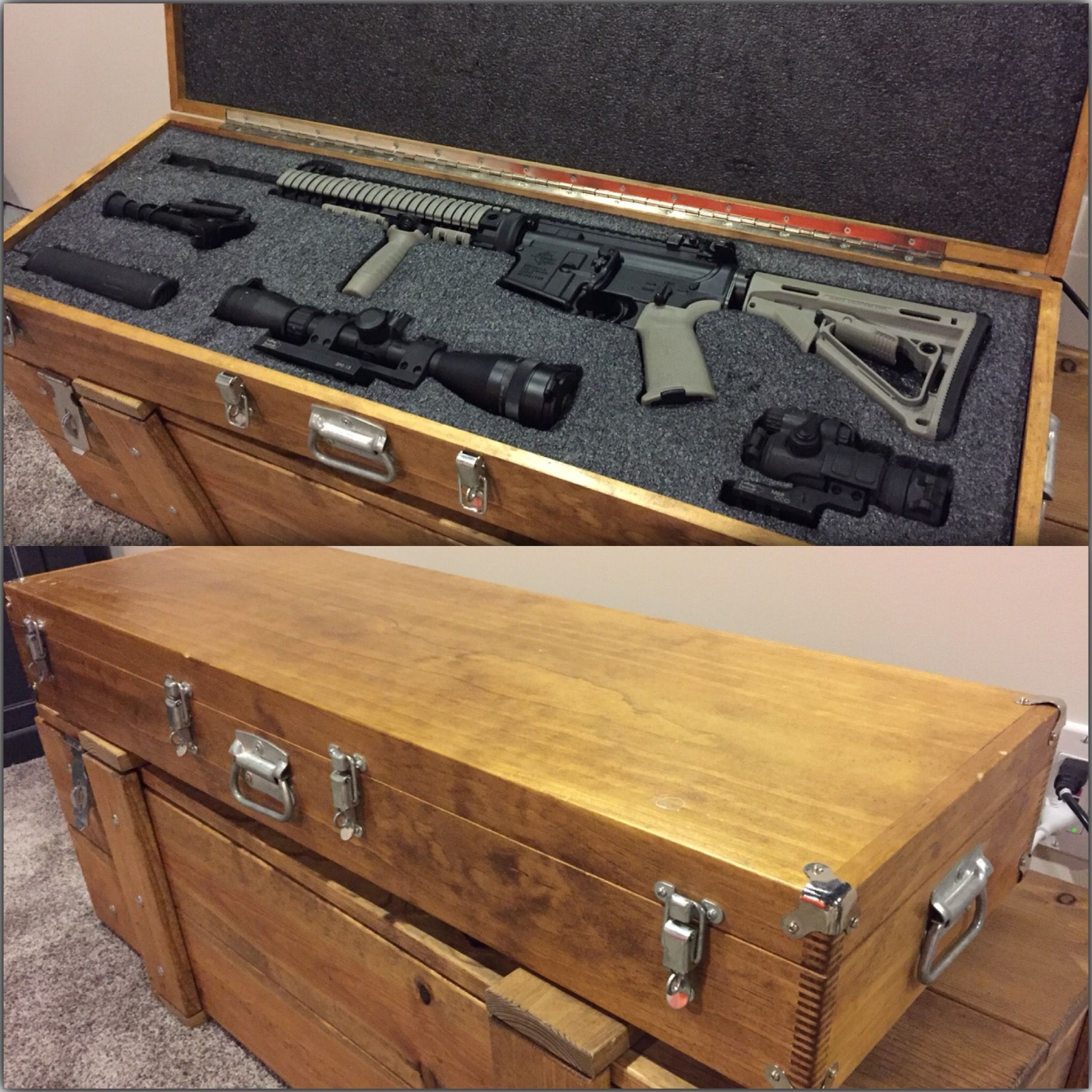 Handmade Wood Gun Case by Gladman Designs Inc | CustomMade.com