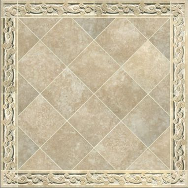 Custom Made Carved Travertine Tile Border