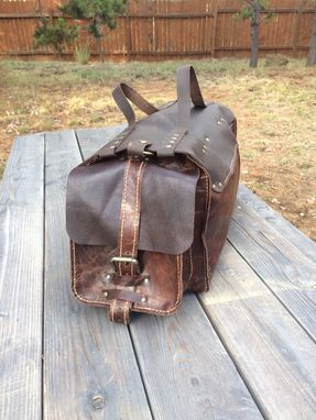 Custom Made Hand Made Buffalo Leather Duffle Bag