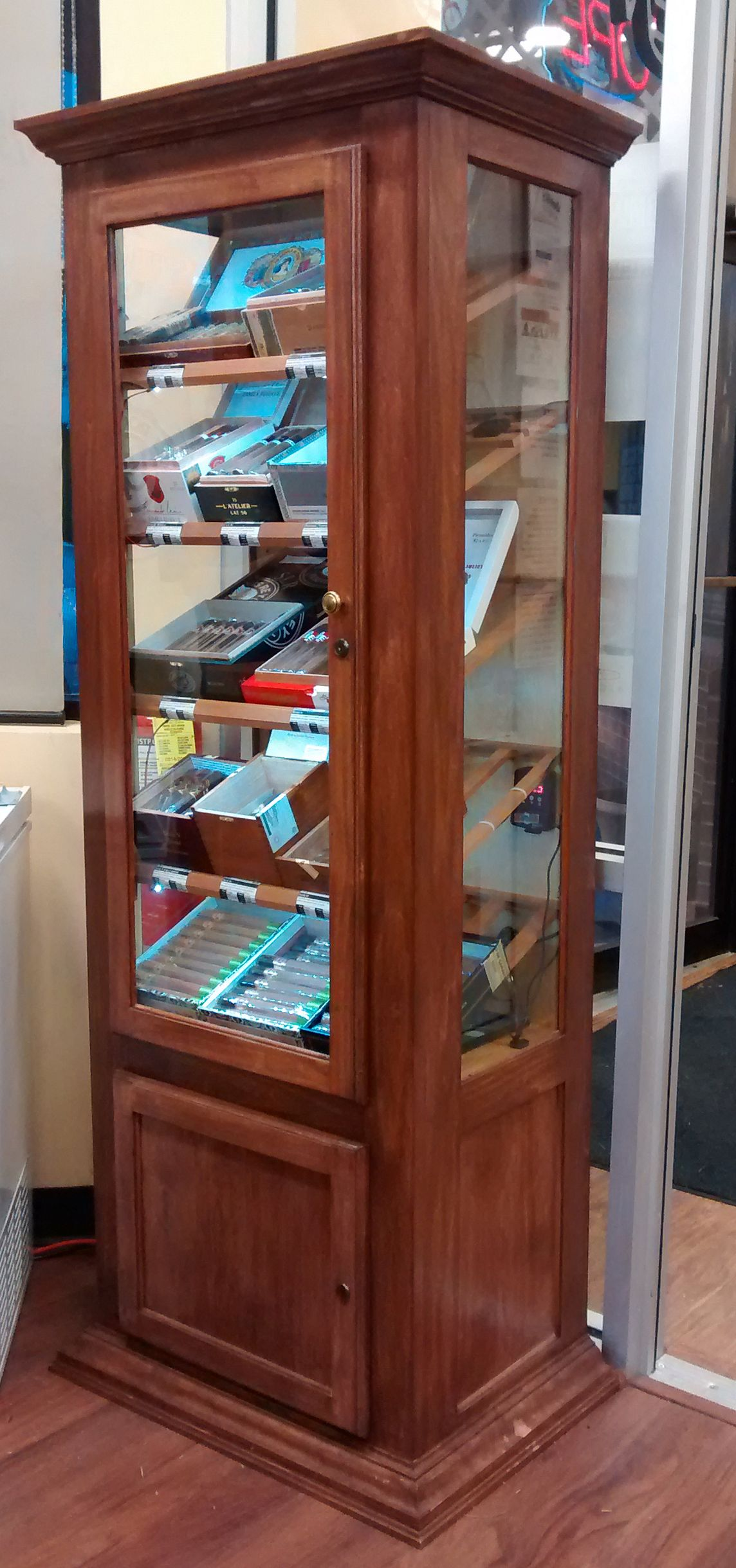 Handmade Tower Retail Humidor Display Cabinet by Humidor Works