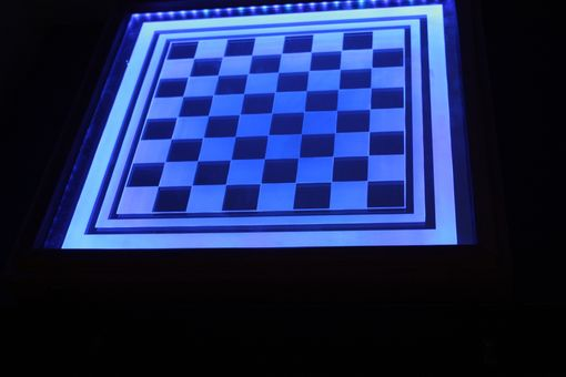 Custom Made Etched Mirror Game Board With Led Lights