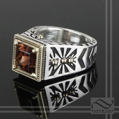 Custom Made Sunstone Noir Ring