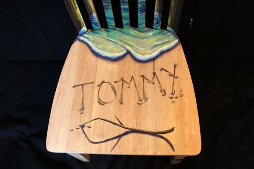 Custom Made Hand Painted Beach Themed Chair