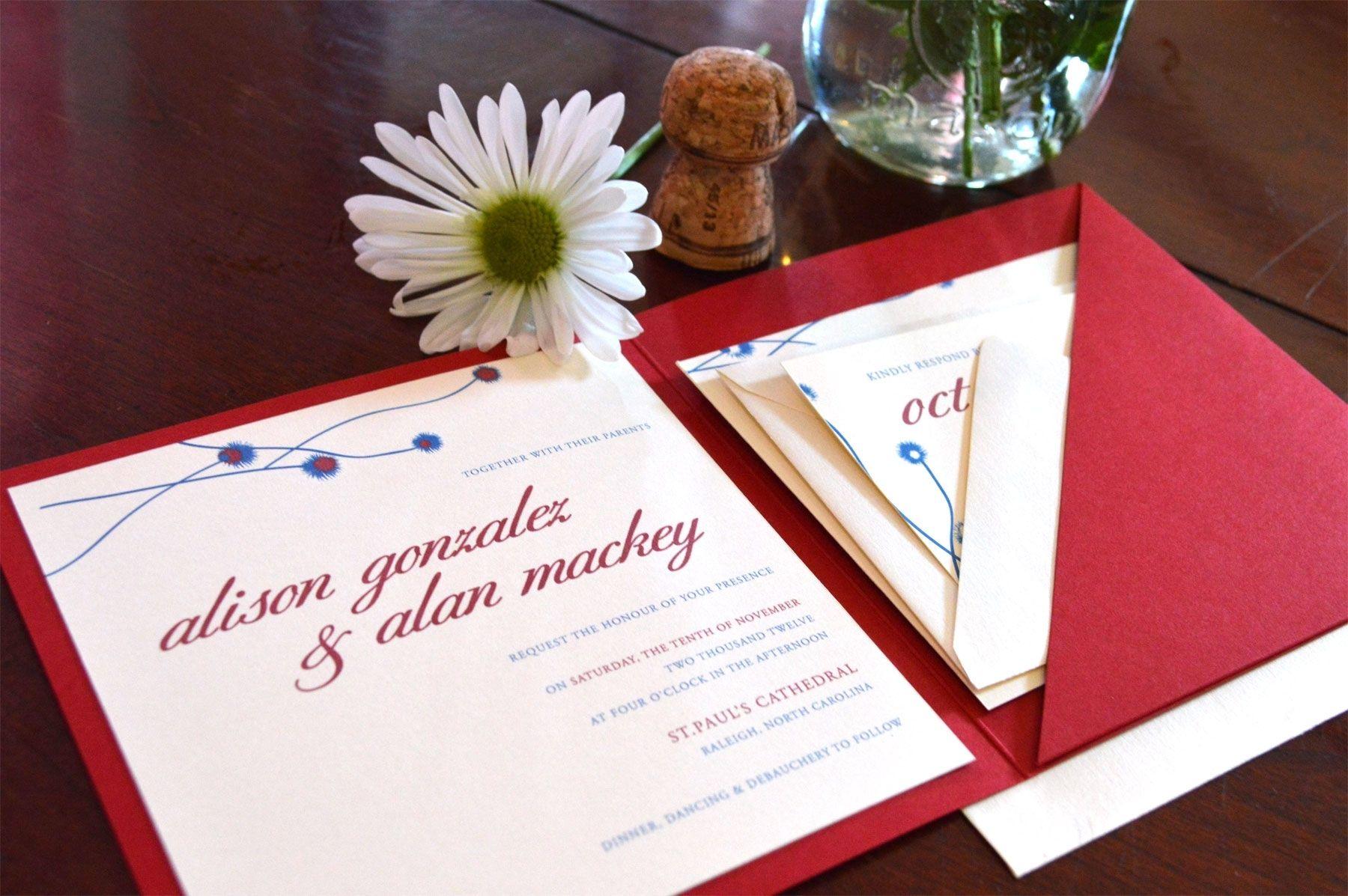 Custom Wedding Invitation Suite by Bella Blu Amore Paper ...