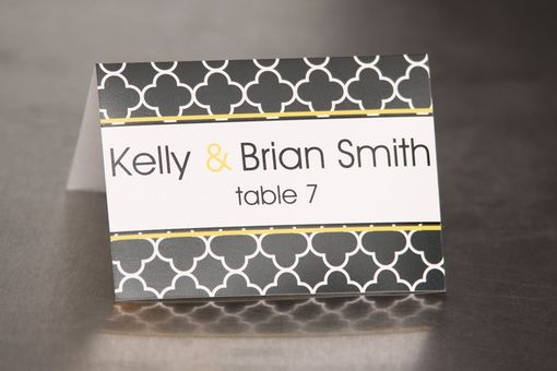 Custom Made Wedding Place Cards - Clover Pattern - Escort Cards Custom Designed