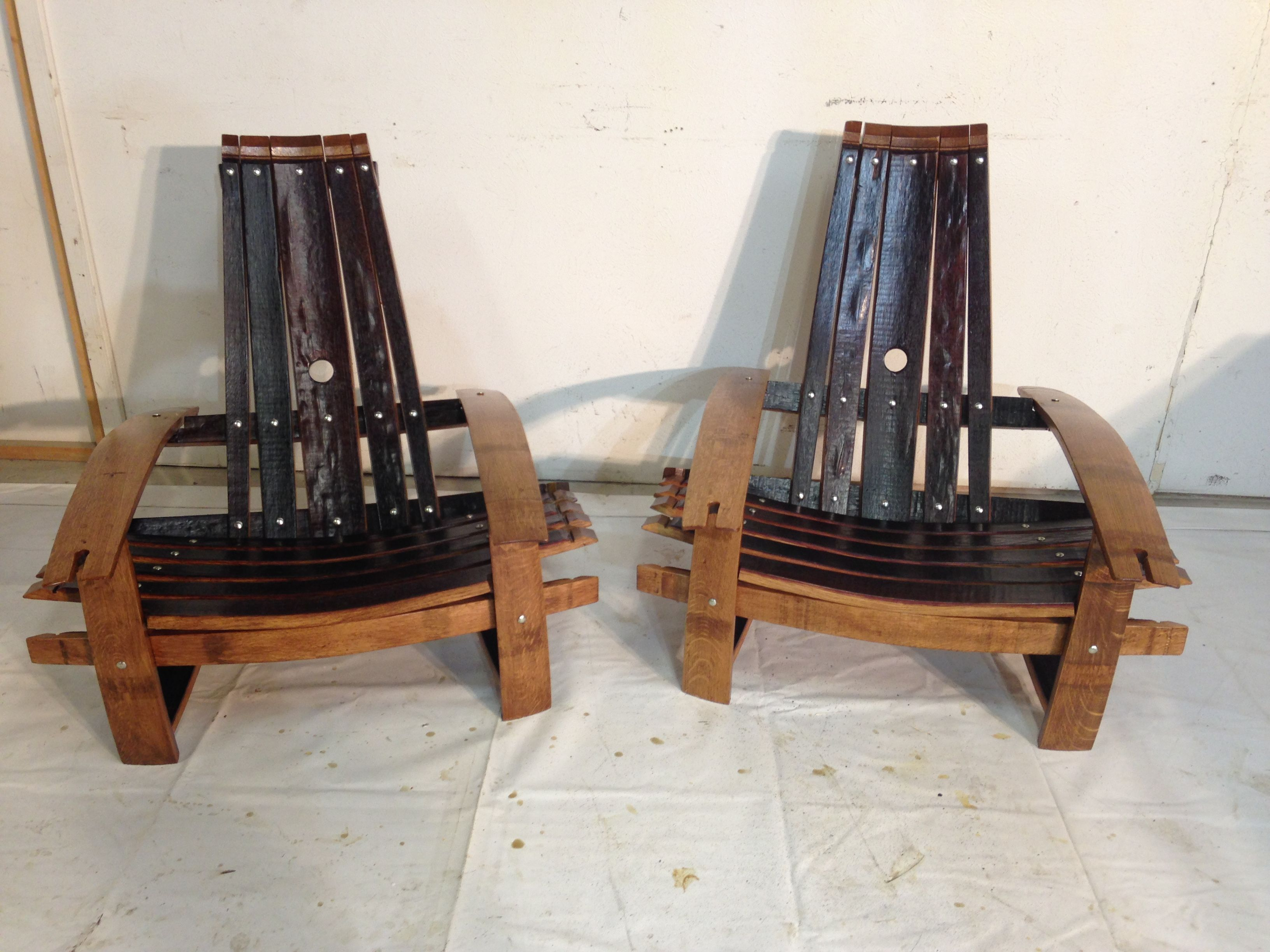 Buy Handmade Wine Barrel Stave Adirondack Chairs Made To Order From