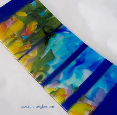 Custom Made Fused Glass Platter - Big Sur
