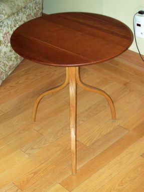 Custom Made Bent And Tapered Leg Occasional Table