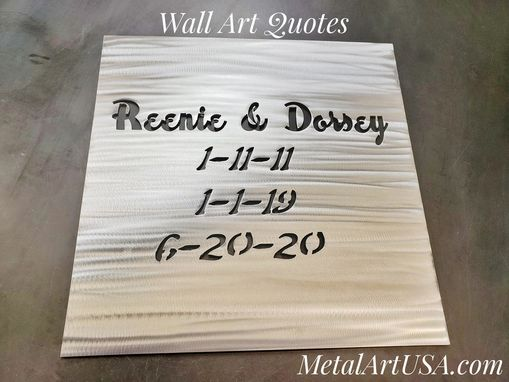 Custom Made Custom Cut Metal Signs