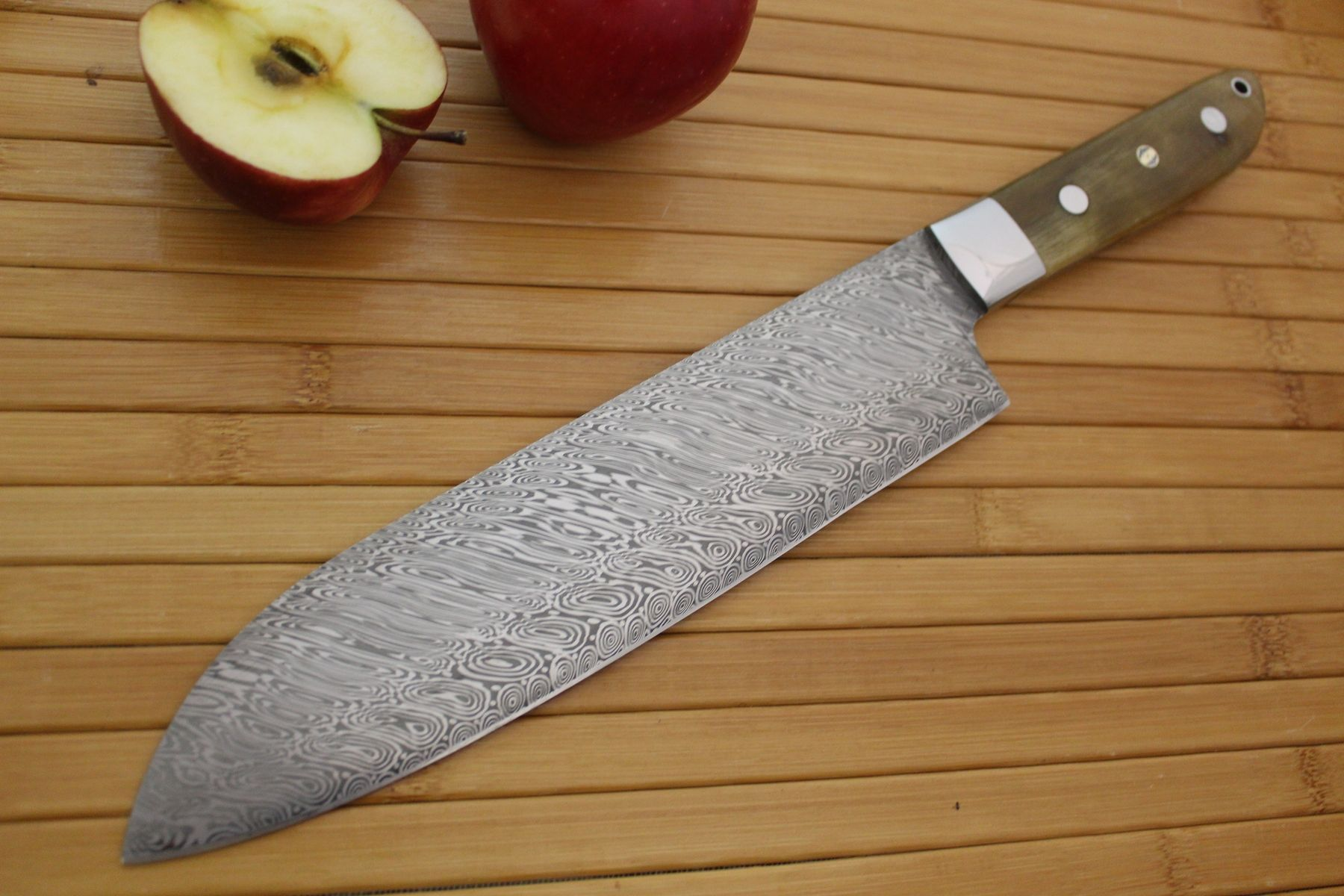 Hand Made 8 Damascus Chefs Knife By Cote Custom Knives