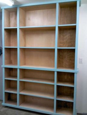 Custom Made Book Shelves And Stand Up Pantry