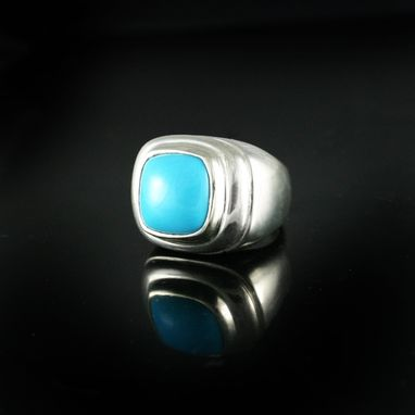 Custom Made Turquoise Mens Rings