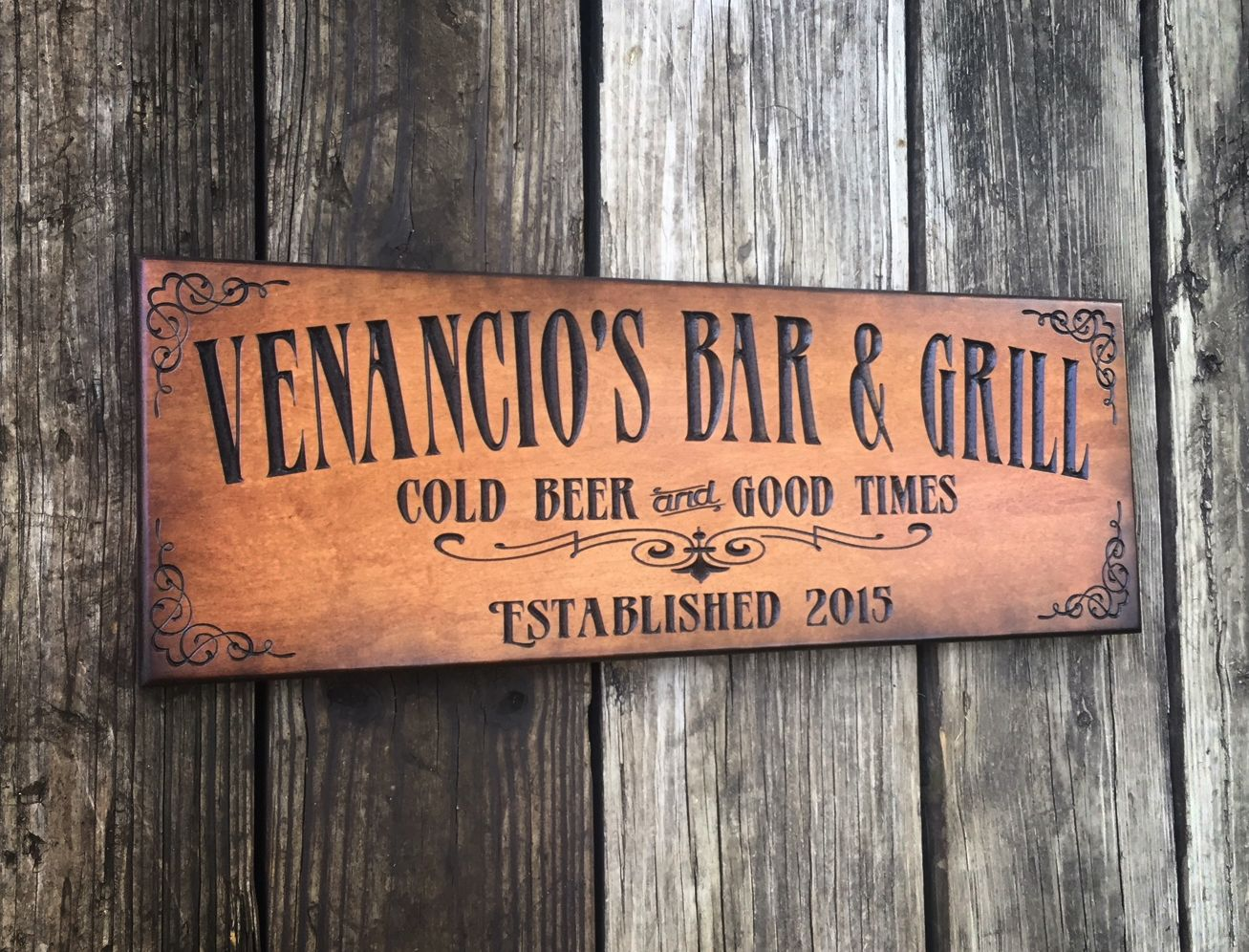 MAN CAVE HOME BAR SIGN GREAT XMAS GIFT PERSONALISED TIN SIGN