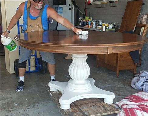 Custom Made Pedestal Table And Chairs